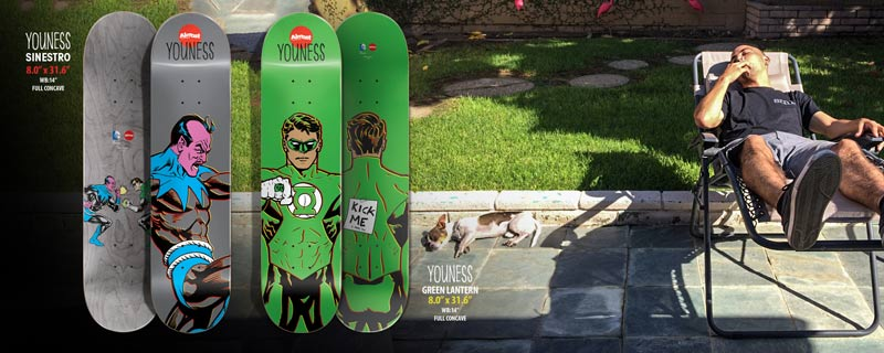 Almost Skateboards 2014 DC collab Youness