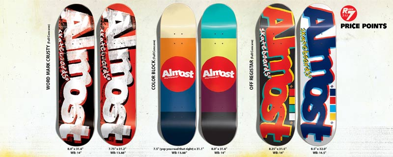 Almost Skateboards 2014 R7 logos