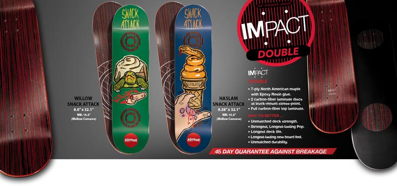 Almost Skateboards 2014 impact double