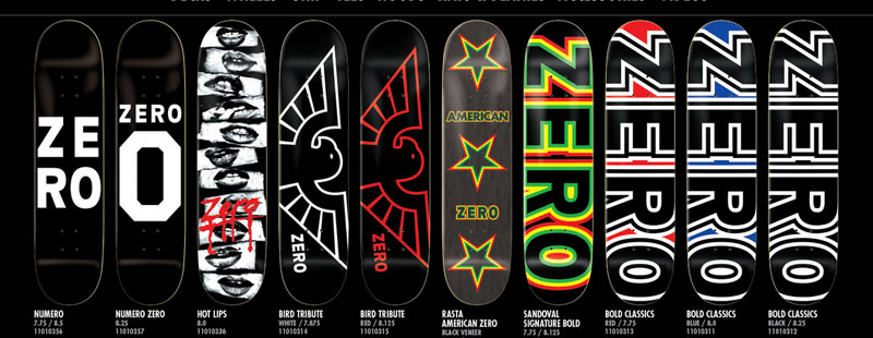 Zero Skateboards At El Skate Shop