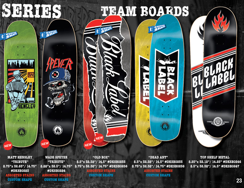 black label skateboards 2014