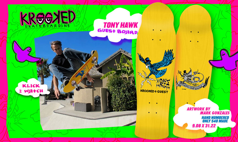 krooked skateboards 2014 tony hawk guest deck