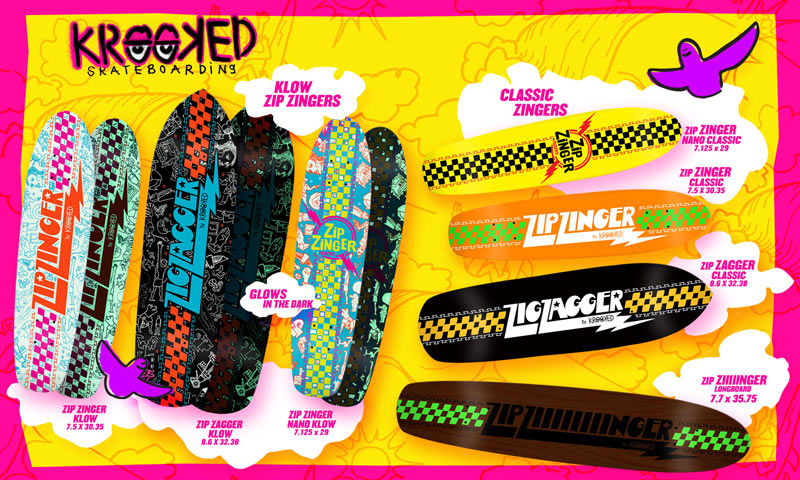 krooked skateboards 2014 zip zingers