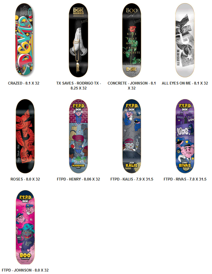 DGK Skateboards Decks 2014