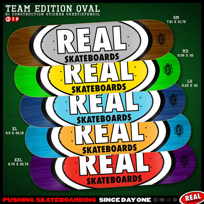 Real Skateboards team edition oval
