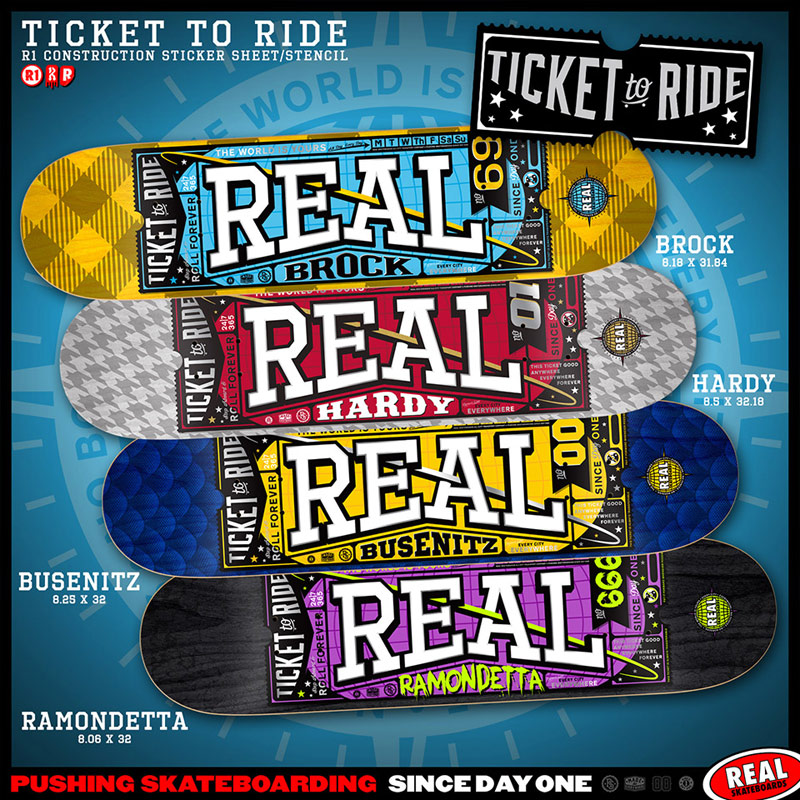 Real Skateboards 2014 ticket to ride