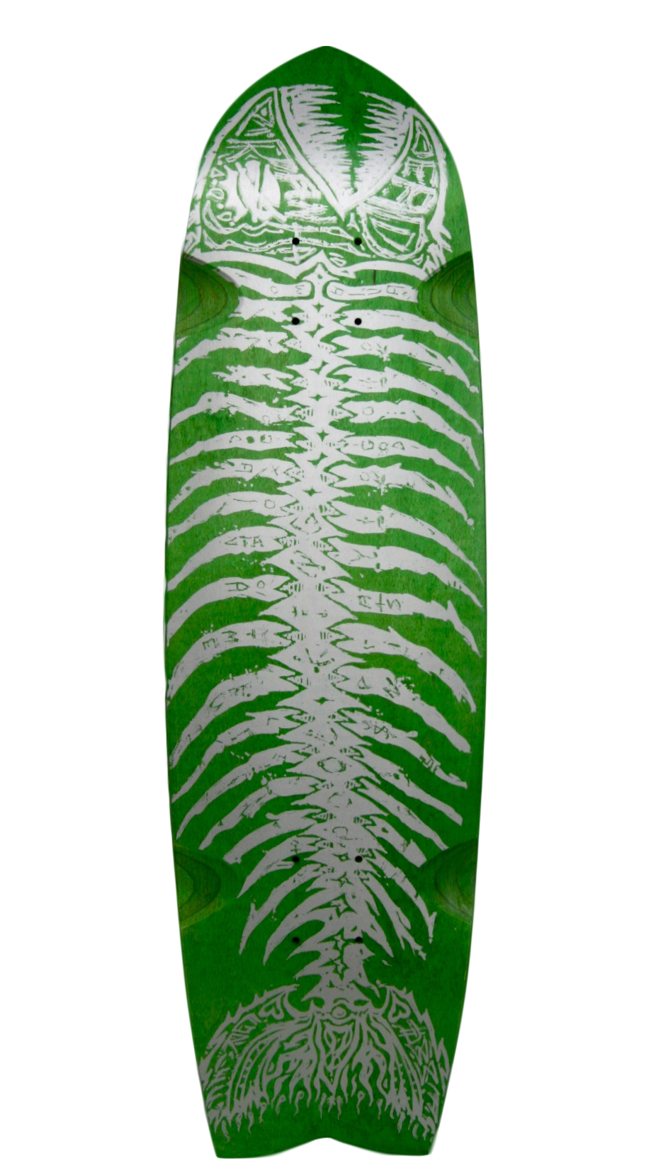 Alva green fish btm Skateboard Deck
