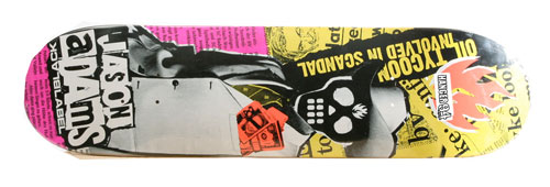 Black Label Skateboards Jason Adams Corporate Scandal Deck