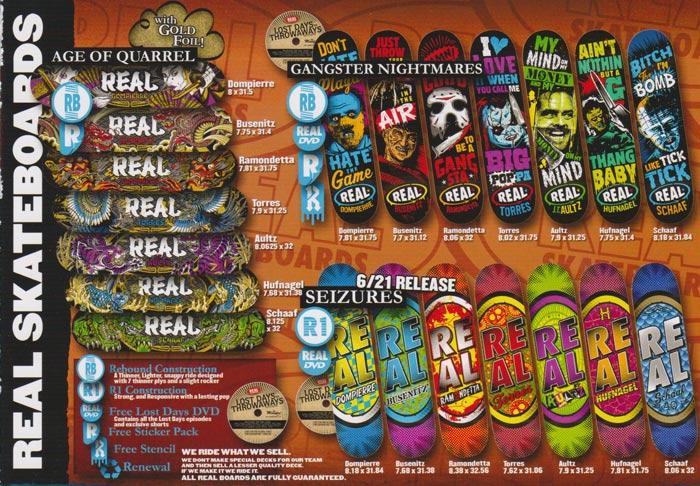 Real Skateboards Catalog 2009