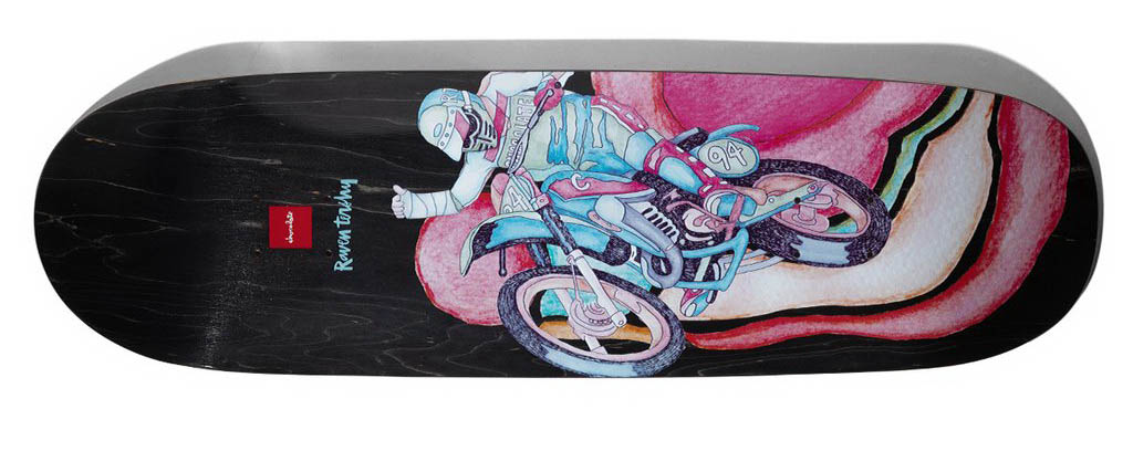 Chocolate Tershy Psych Bike Black Couch Deck 9.25inches Skateboard deck