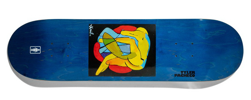 girl pacheco tangled deck 8 8.375inches skateboard deck